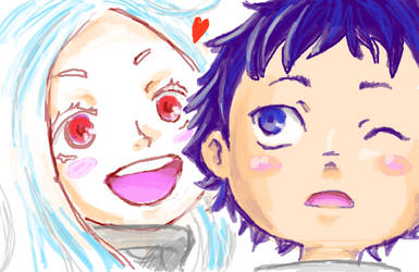 Shiro and Ganta by SANACHI