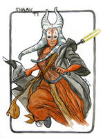 Shaak Ti Sketch by quin-ones