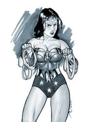 Wonder Woman sketch by quin-ones