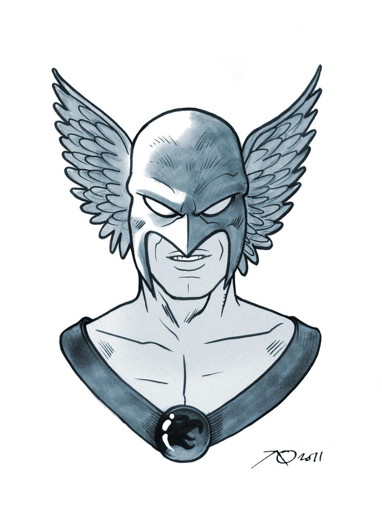 Hawkman Sketch by quin-ones