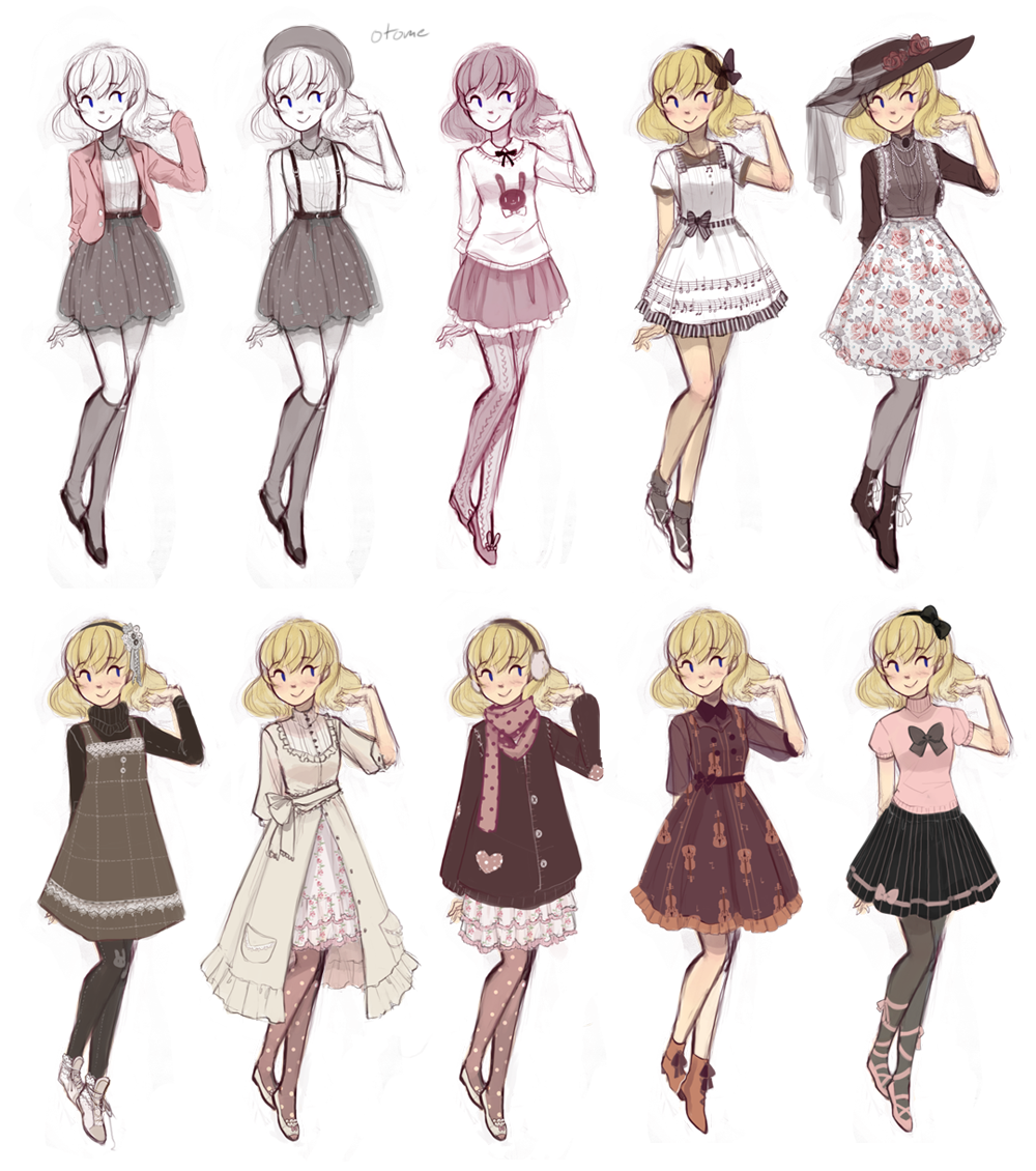 Character Design Outfits : Cuteparade by missusruin on deviantart