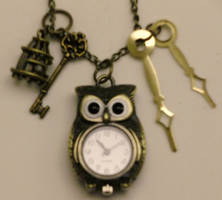 Steampunk Owl Watch Pendant