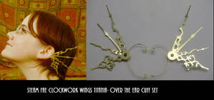 SteamFae Clockwork Wings Cuffs