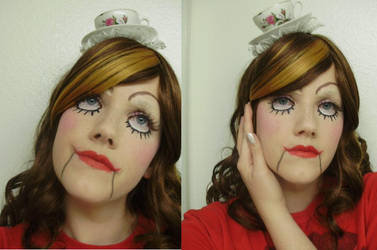 Steampunk Dolly Makeup Test by pervyyaoifancier
