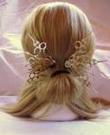 Jessamine Wings Hair Pick Set Steampunk Accessory