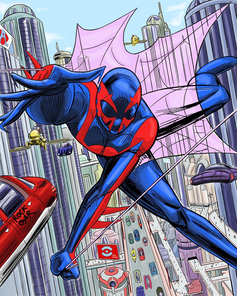 Spider-Man 2099 by rocksilesbarcellos on DeviantArt