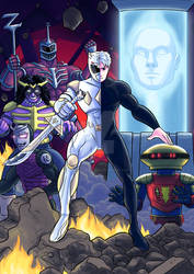 Power Rangers fanfic comic cover commission