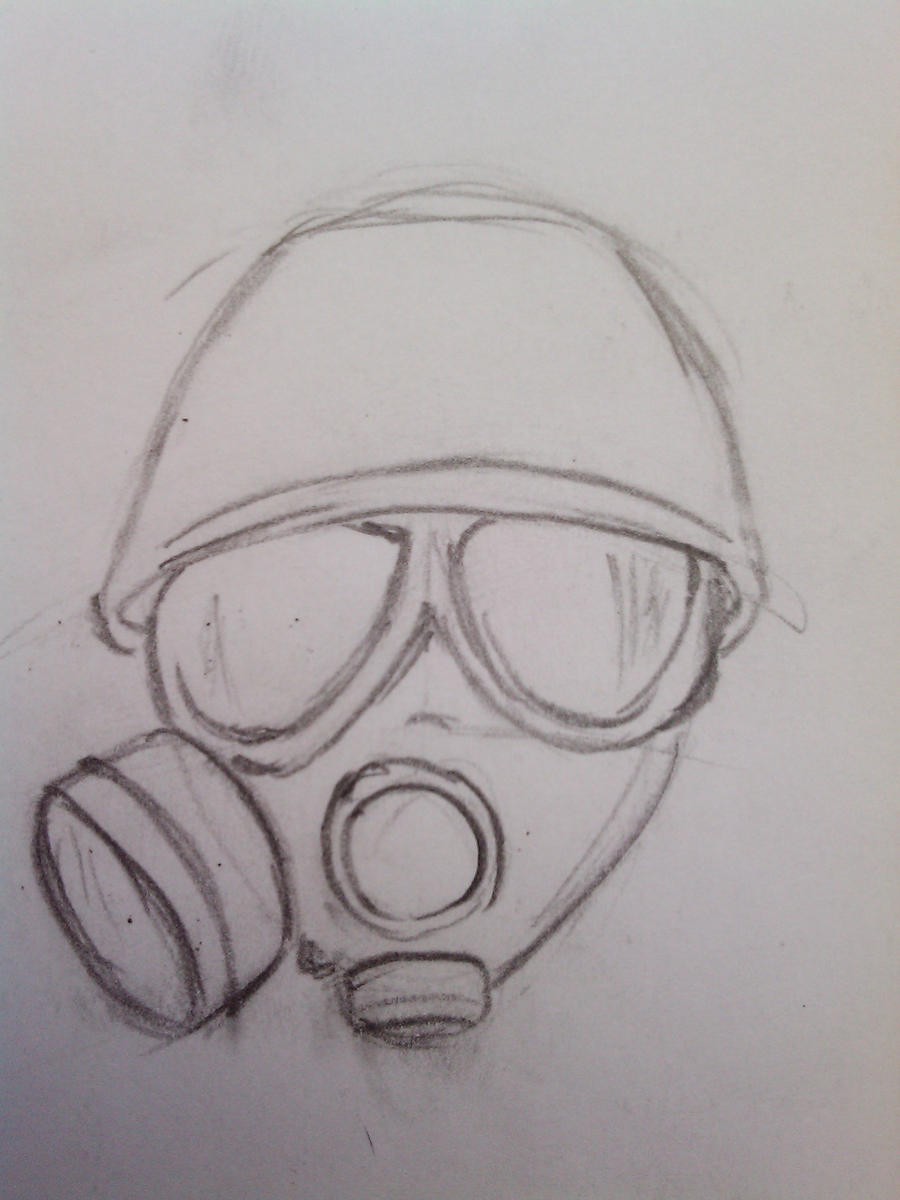 gas mask drawing by borism1990 on deviantart