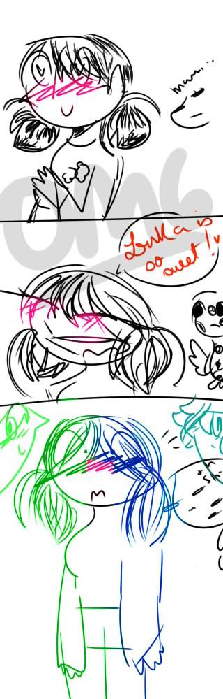 comic Lukette/ Adrinette - EYES BLUE BOY OR GREEN? by anagiovanna