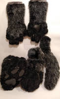 Black Wolf paw and tail set