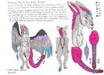Shreddy the Dutch Angel Dragon reference sheet