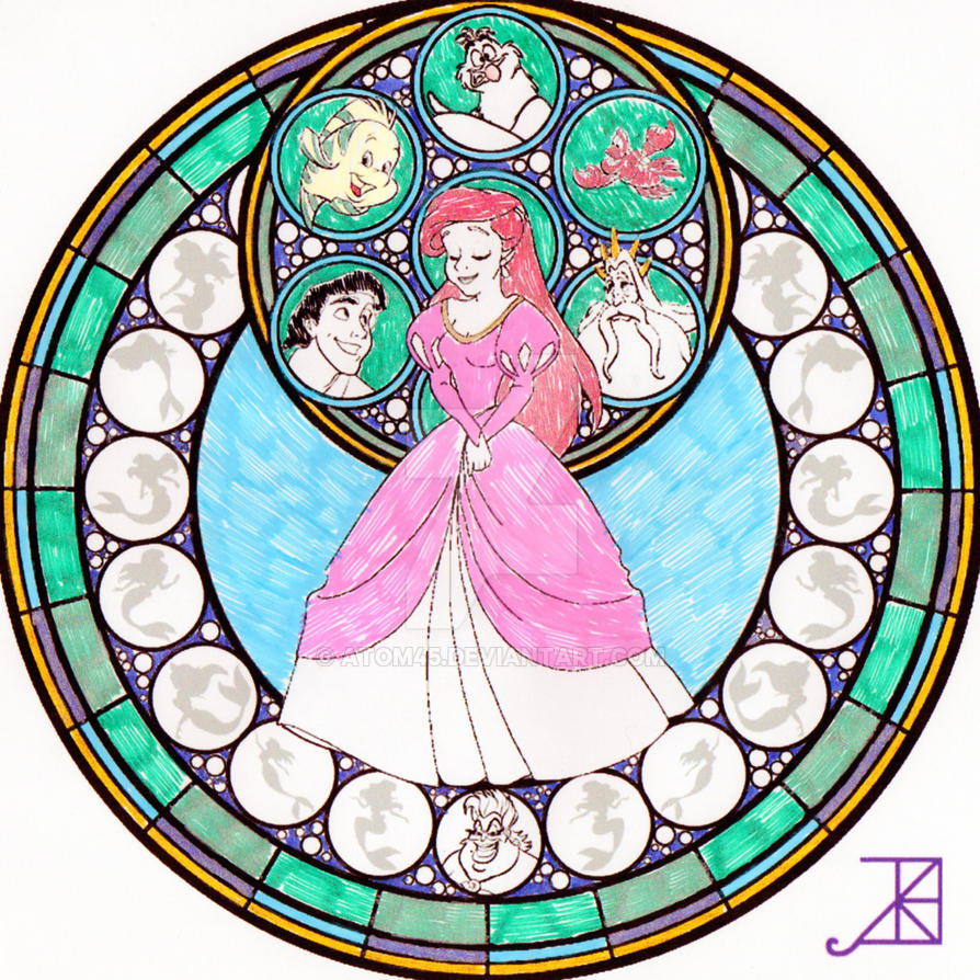 Ariel Stained Glass by Atom45
