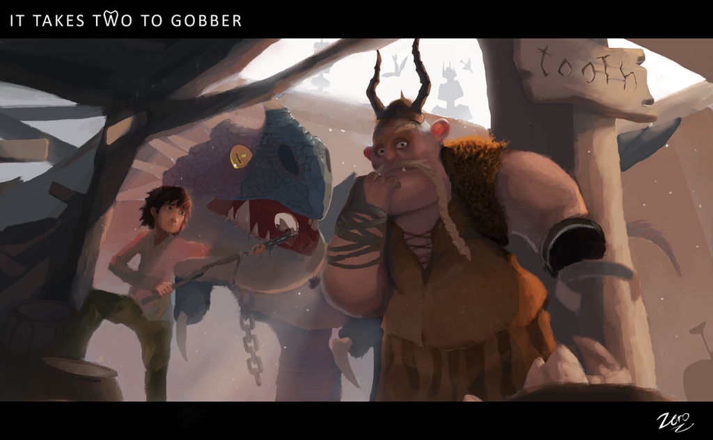It takes two to Gobber - How to train your dragon