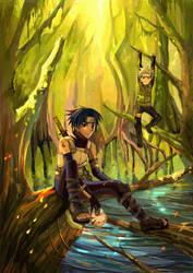 Sasuke and Naruto by nanami-yuki