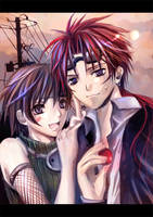 -FFVII- Yuffie and Reno by nanami-yuki