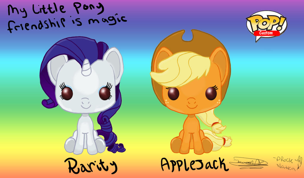 Funko Pop Applejack And Rarity By Drocknation On Deviantart