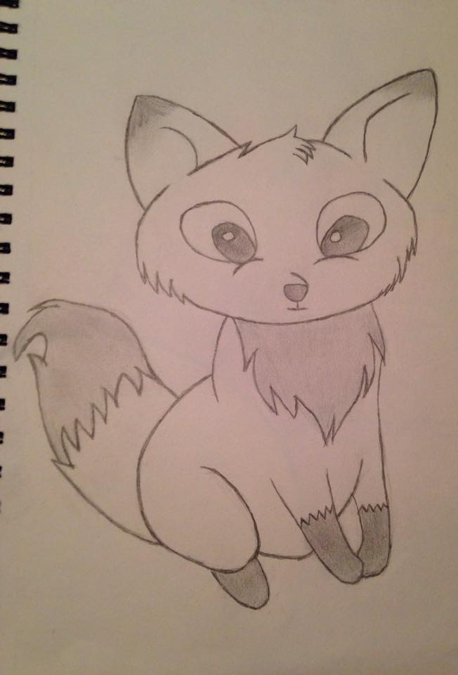 little fox drawing by Kurayami99