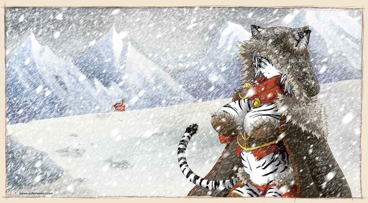 Miia, White Tiger Girl by Kawa-V