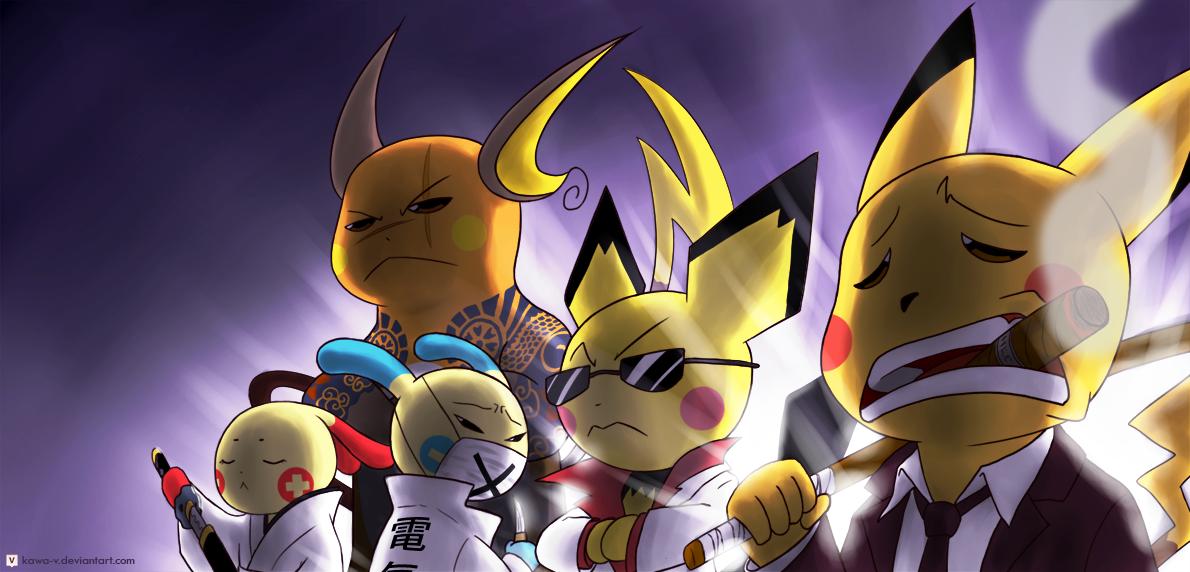 Electric Yakuza - by Kawa V : pokemon
