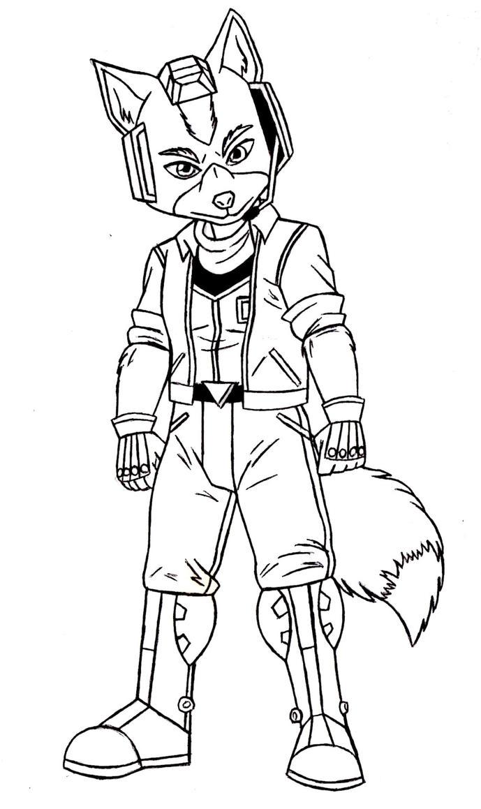 Fox McCloud Starfox 64 Sketch by ACdraw