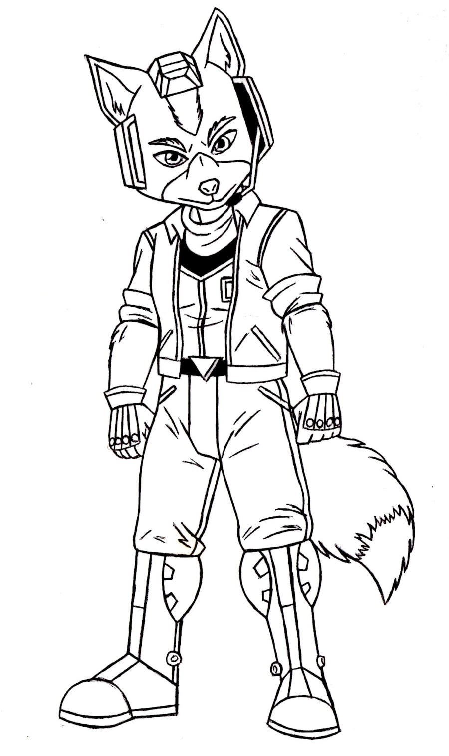 Coloring Pages Star Fox Coloring Pages fox mccloud starfox 64 sketch by acdraw on deviantart acdraw