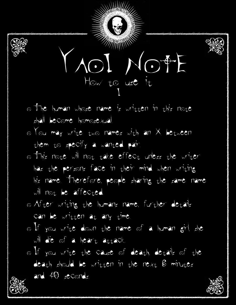 DN - Yaoi Note by Taymeho on DeviantArt