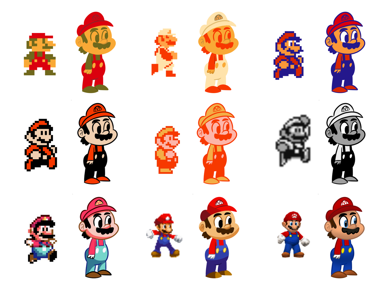 Gameboy color palettes - Super Mario Palettes By Emjaidi Super Mario Palettes By Emjaidi