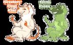 Sweet Rat/Possum Adopts (1/2 open) by hellebee