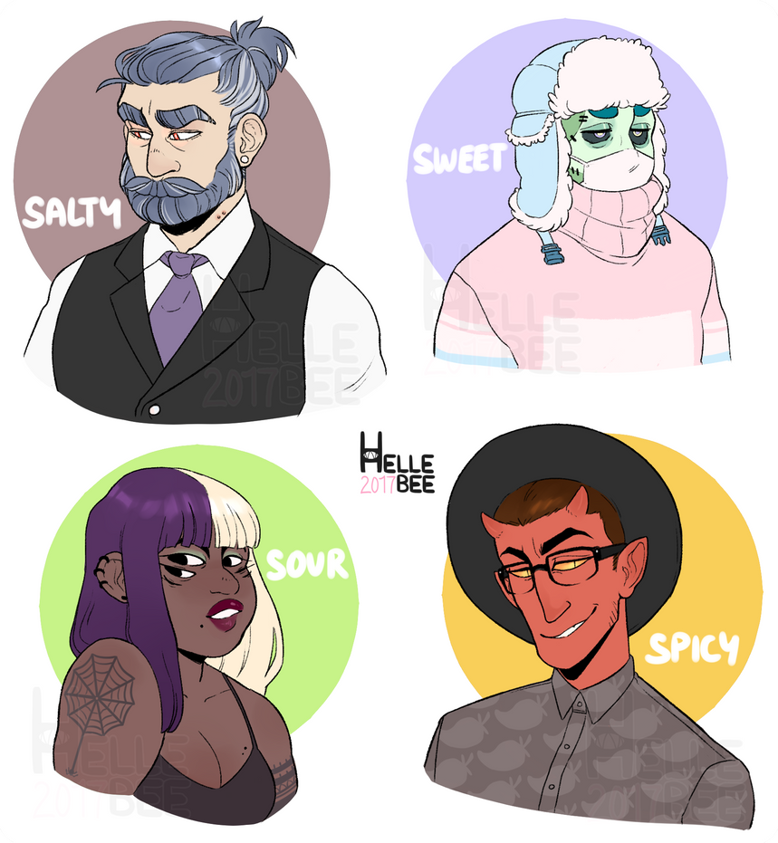 Not Quite Human Adopts [CLOSED] by hellebee