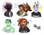 Monster Babe Adopts [CLOSED] by hellebee