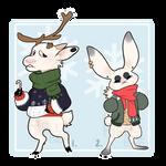 [Adopts] Winter Woodlanders (CLOSED) by hellebee