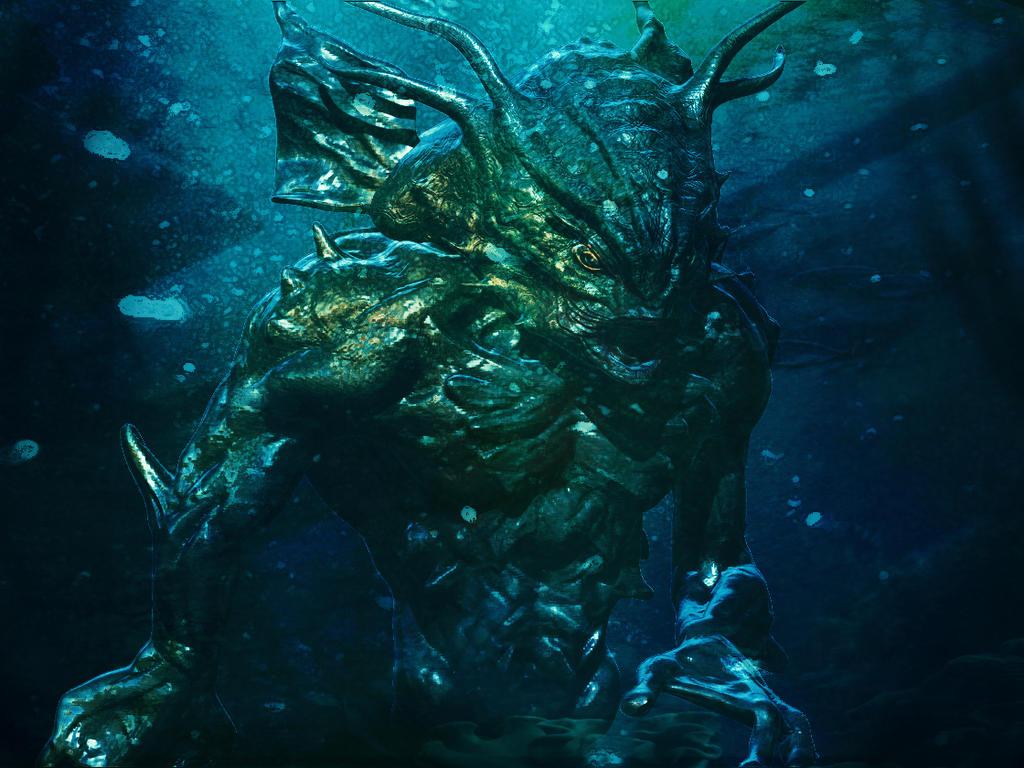 Merman creature concept by SamKablamm
