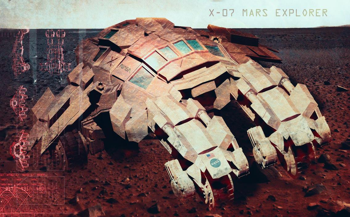 Mars Explorer Concept by SamKablamm