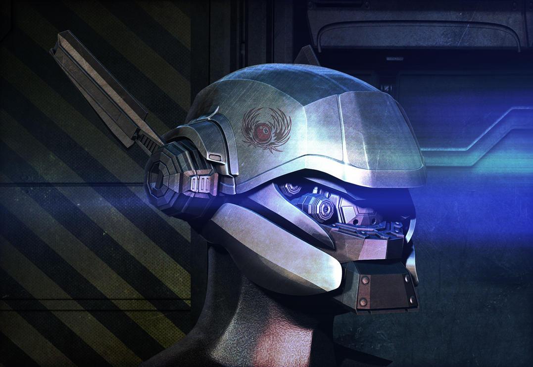 Cyborg-head by SamKablamm