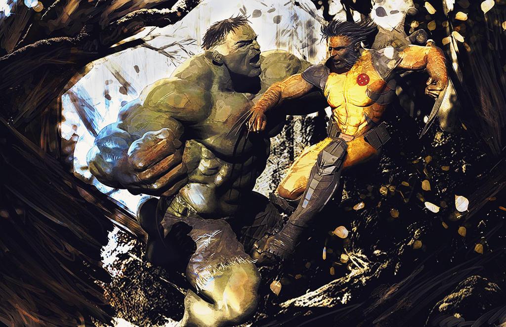 Hulk-vs-Wolverine by SamKablamm