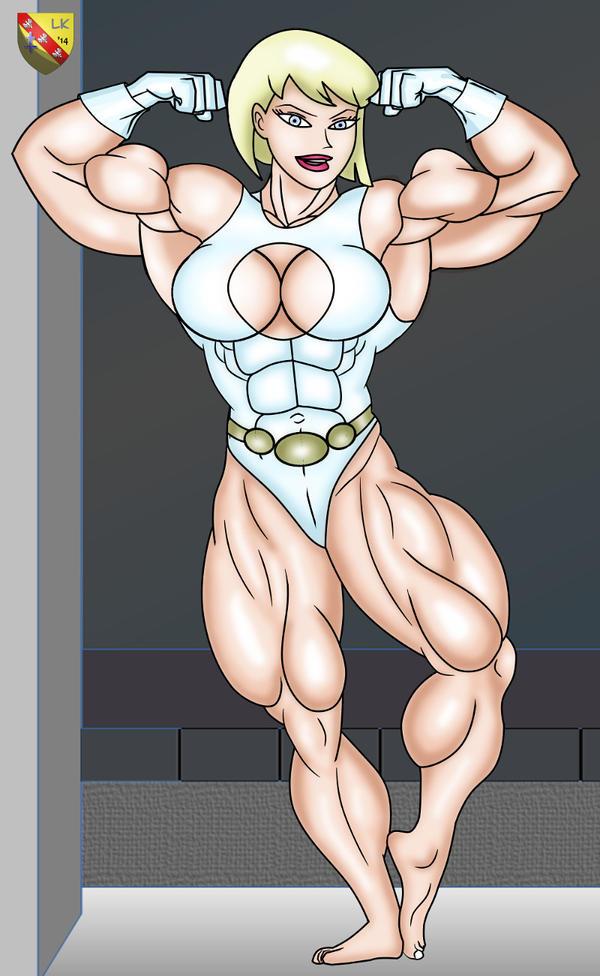 Galatea vs Supergirl : Galatea full flex by LordKelvin
