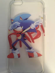 Sonic Dab iPhone 6S case! by StefanTheHedgehog