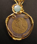 Pesos - Wire Wrapped Mexican Coin