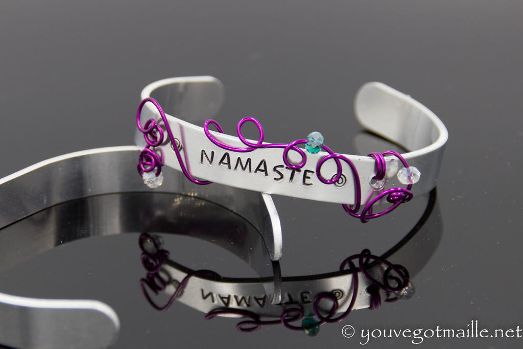 Namaste Wire Wrapped Bracelet by youvegotmaille