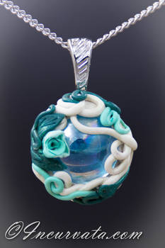 Glass Garden Polymer Clay Pendant