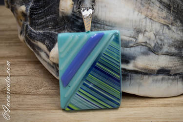 Dimensional Fused Glass Pendant
