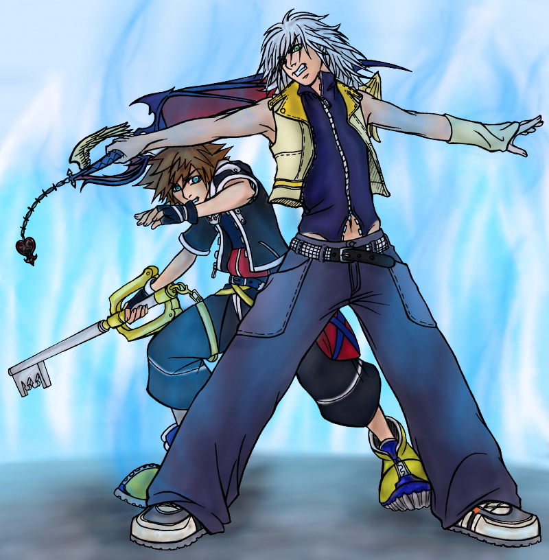 Riku Shielding Sora By Cmizer On DeviantArt