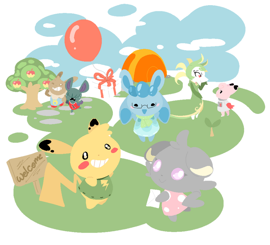 PokeCrossing - Welcome to...! by Bellaceline122