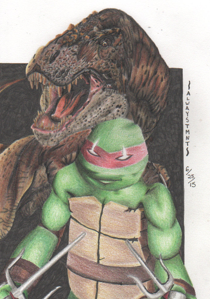 Raphael and T-REX by The-tessen-kunoichi on DeviantArt