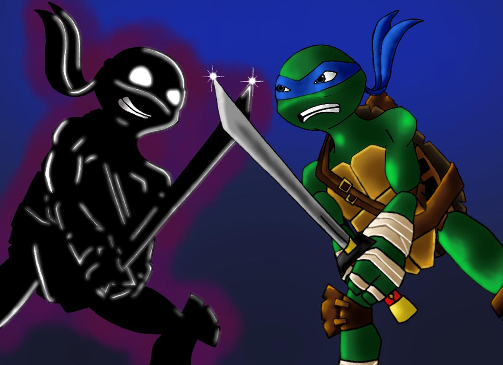 Leo vs shadow leo by The-tessen-kunoichi