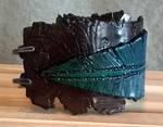 Clay feather bracelet