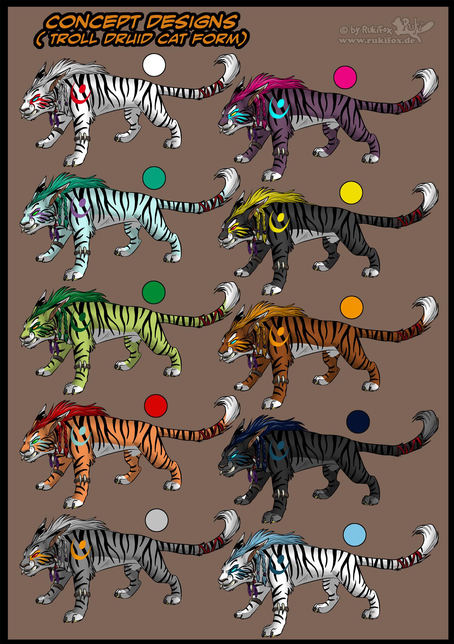 Troll druid cat form design by RukiFox on DeviantArt