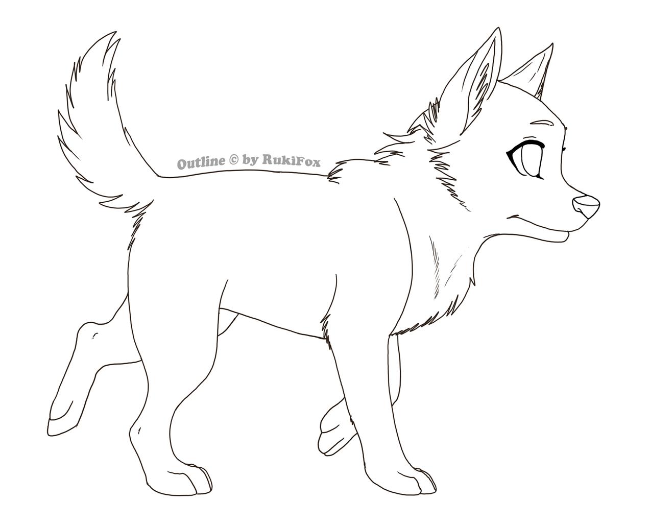 Puppy outline03 by RukiFox on DeviantArt