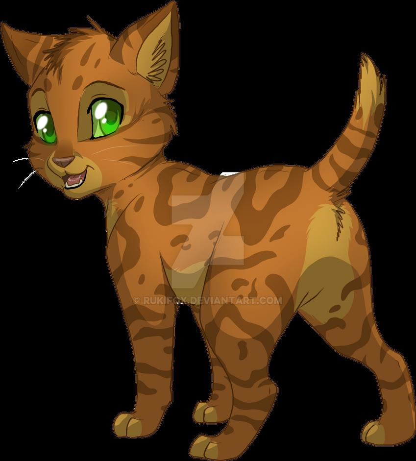 Redspot - Kitten by RukiFox