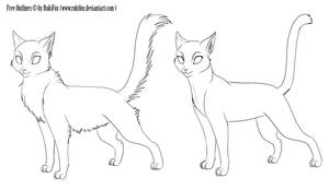Free Cat outlines by RukiFox